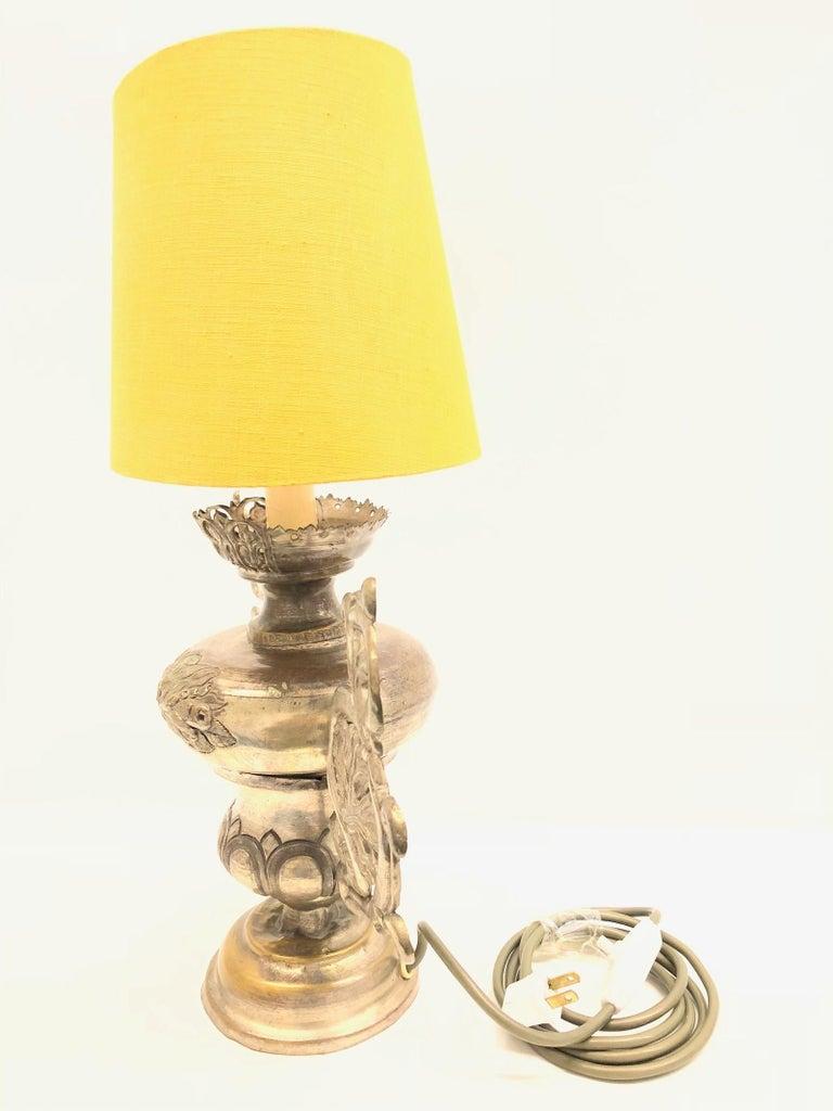 German Converted European Altar Vase Lamp, Mid-18th Century For Sale