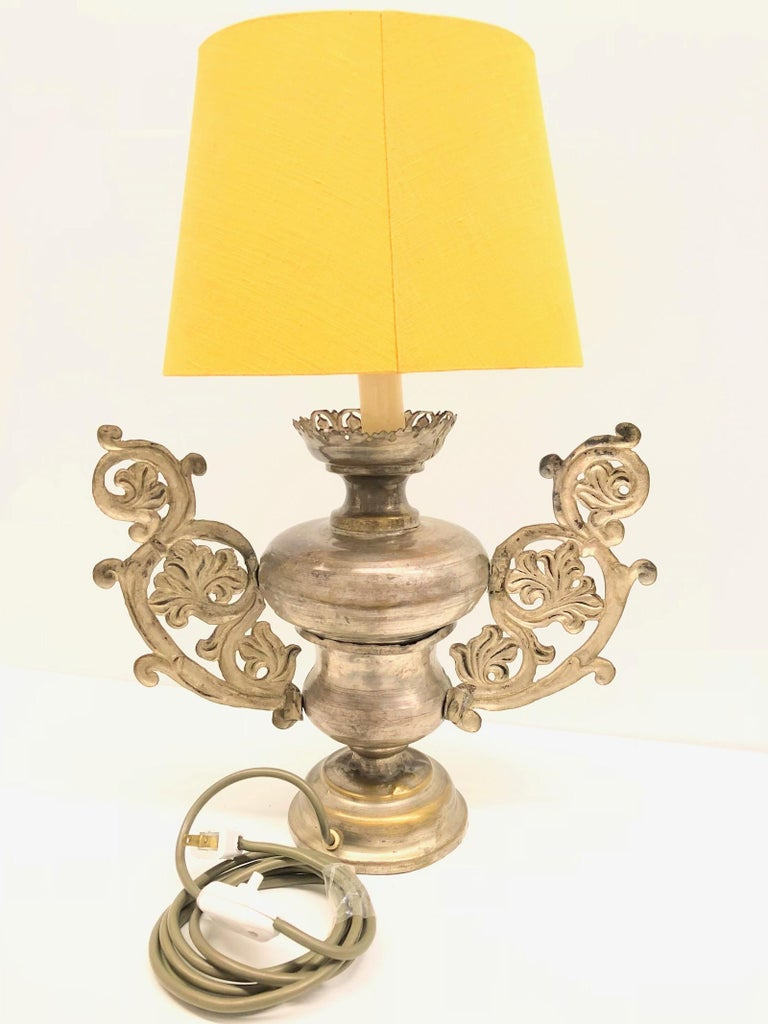 Converted European Altar Vase Lamp, Mid-18th Century In Good Condition For Sale In Frisco, TX
