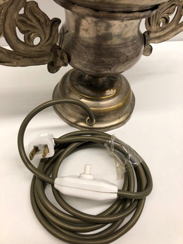 Converted European Altar Vase Lamp, Mid-18th Century For Sale 1