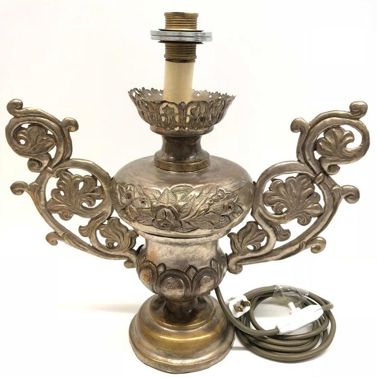 Converted European Altar Vase Lamp, Mid-18th Century For Sale 2