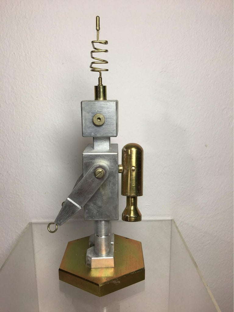 Handmade Brass and Aluminum Robot from Germany, 1970s For Sale 3