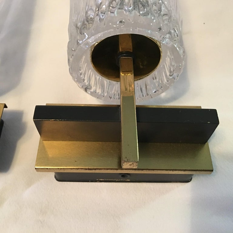 Pair of Lovely Austrian Kalmar Style Glass Sconces For Sale 3