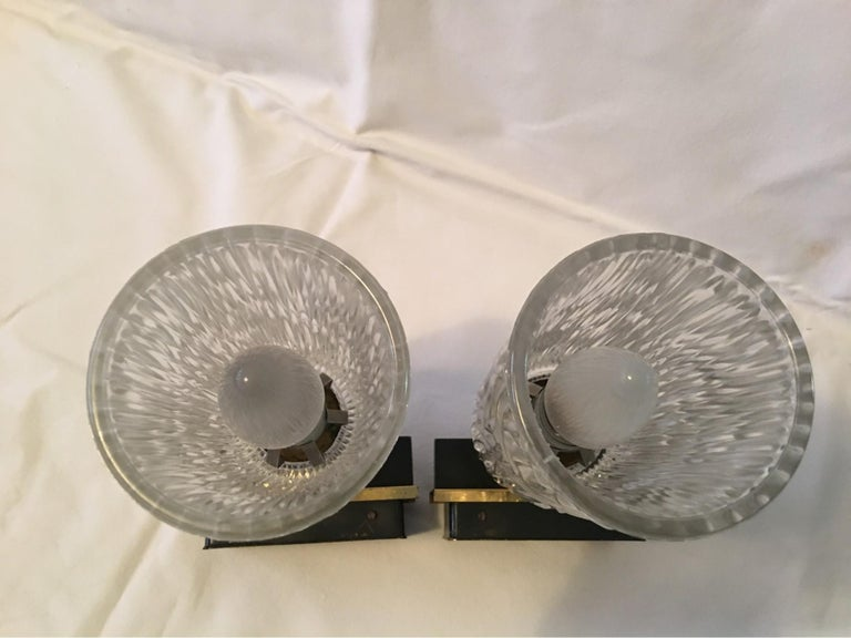 Pair of Lovely Austrian Kalmar Style Glass Sconces For Sale 5