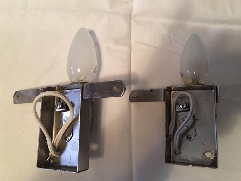German One Pair of Mazzega Style Sconces For Sale