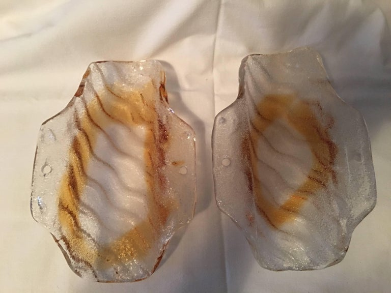 One Pair of Mazzega Style Sconces In Good Condition For Sale In Frisco, TX