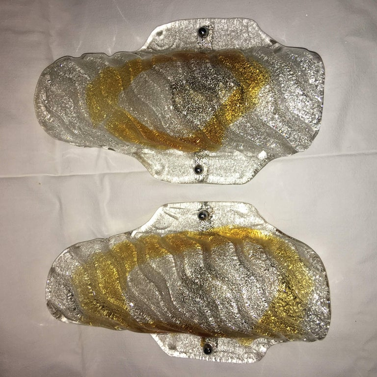 One Pair of Mazzega Style Sconces For Sale 1