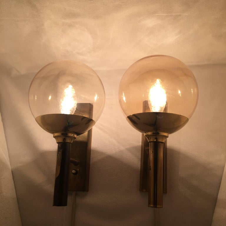 Pair of Svend Mejlstrom Sconces by Mejlstrom Belysning of Norway In Good Condition For Sale In Frisco, TX