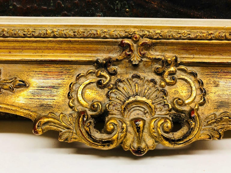 Giltwood Framed Copper of Nuernberg Germany City View Antiques 1920s Item For Sale 6