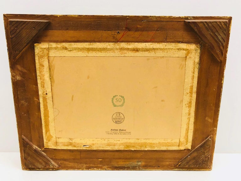 Giltwood Framed Copper of Nuernberg Germany City View Antiques 1920s Item For Sale 7