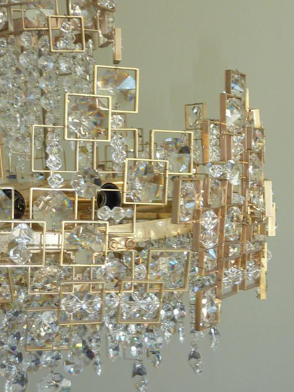 Geometric Lobmeyr Chandelier For Sale 1