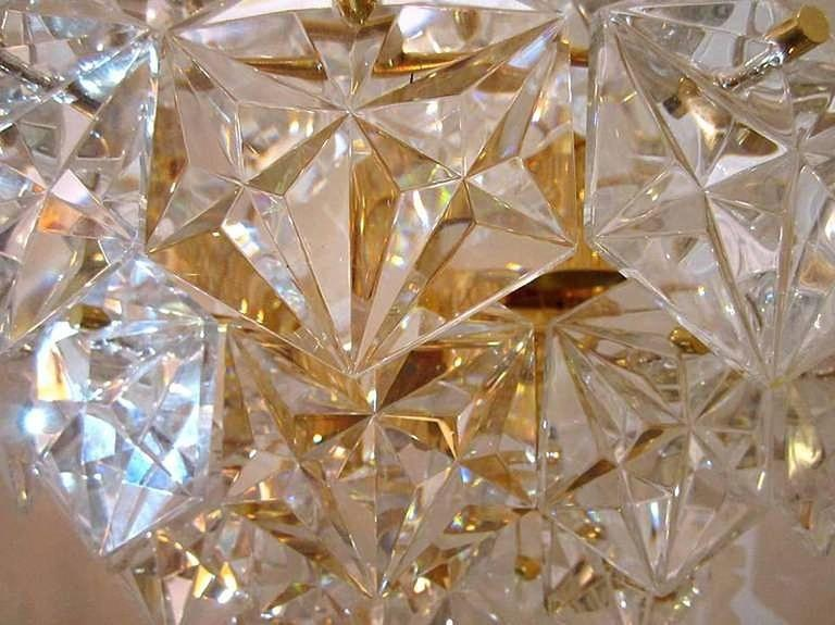 Brass Impressive Pair of Kinkeldey Crystal Sconces For Sale