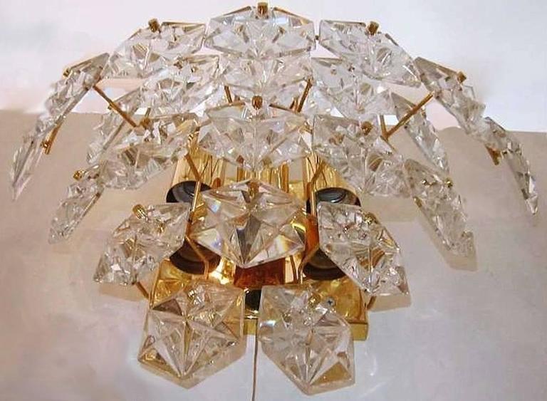 Impressive Pair of Kinkeldey Crystal Sconces For Sale 1