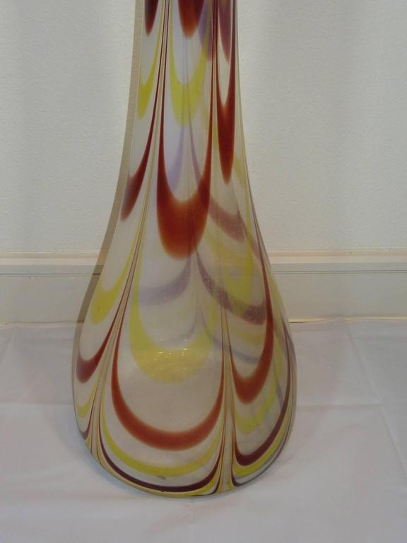 Mid-20th Century Italian Sommerso Large Floor Vase For Sale