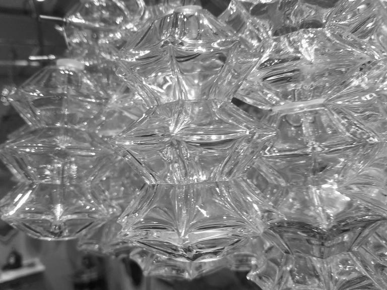 """Kalmar """"Pagoda"""" Glass Chandelier 4"""