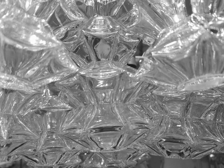 """Kalmar """"Pagoda"""" Glass Chandelier 5"""