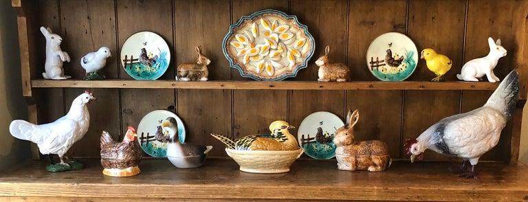 Majolica Terracotta Hen and Chicks Bavent, circa 1920 For Sale 4