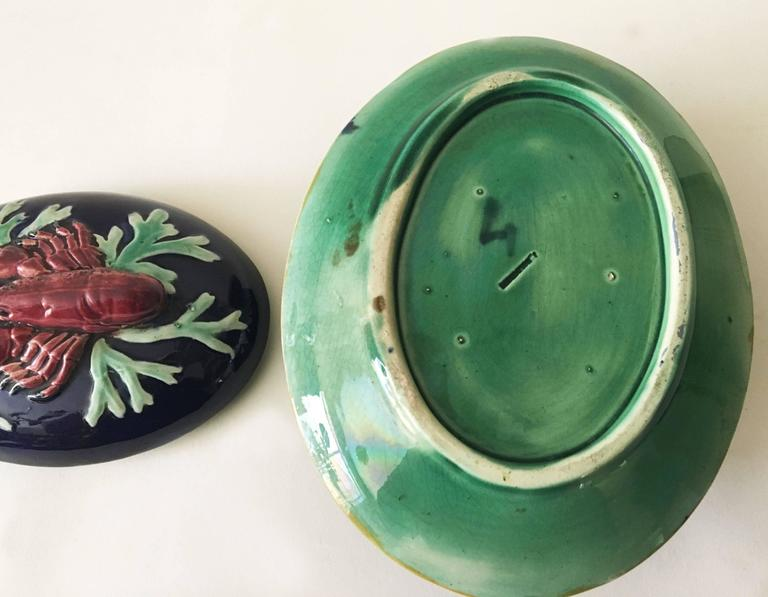 Late 19th Century 19th English Majolica Lobster Tureen, Joseph Holdcroft For Sale