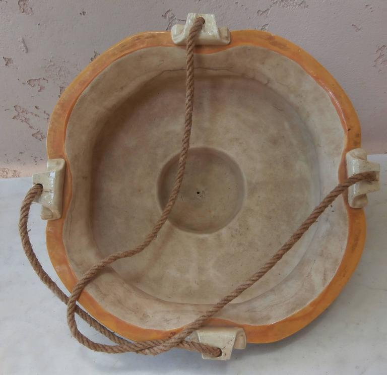 Great Britain (UK) 19th Majolica Hanging Jardinière Minton For Sale