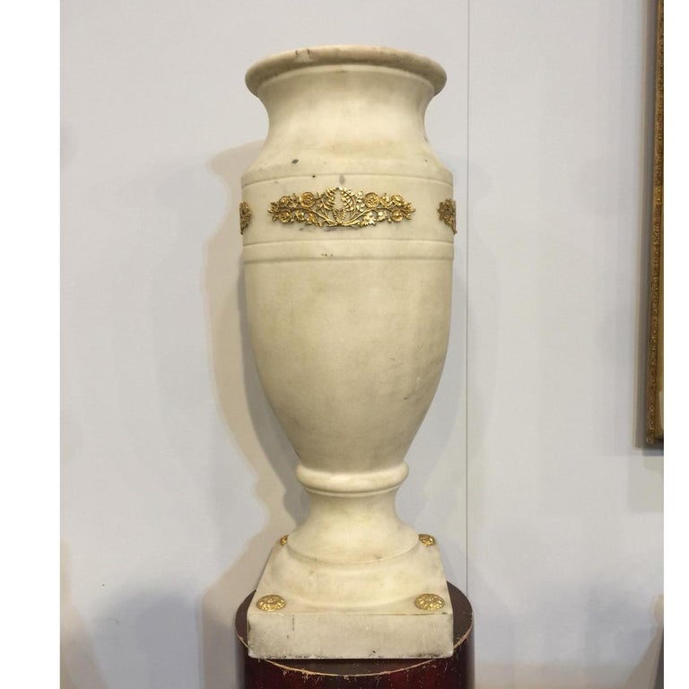19th Century Empire Marble Vase For Sale 5