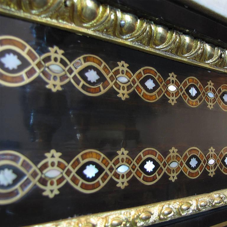 French Mid-19th Century Napoleon III Credenza Gilt Bronze Mounted Ebonized Wood For Sale 1