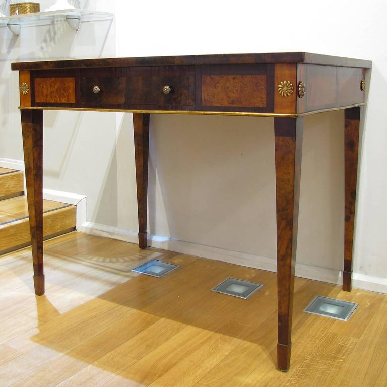 Italian Late 18th Century Louis XVI Desk in Palisander, Walnut and Olive Wood For Sale 6