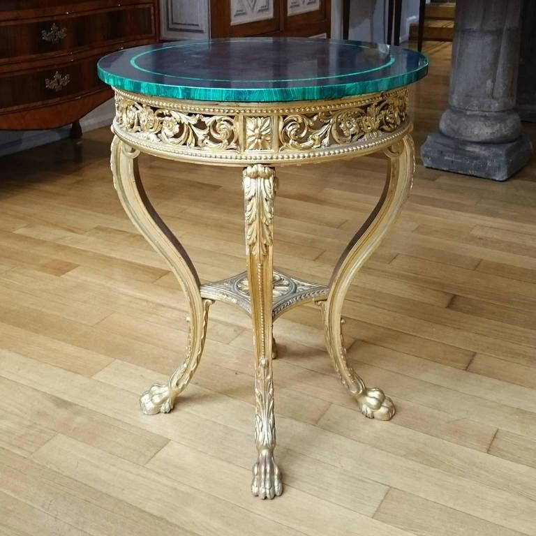 Italian 18th Century Louis XVI Centre Table in Gilt Wood ...
