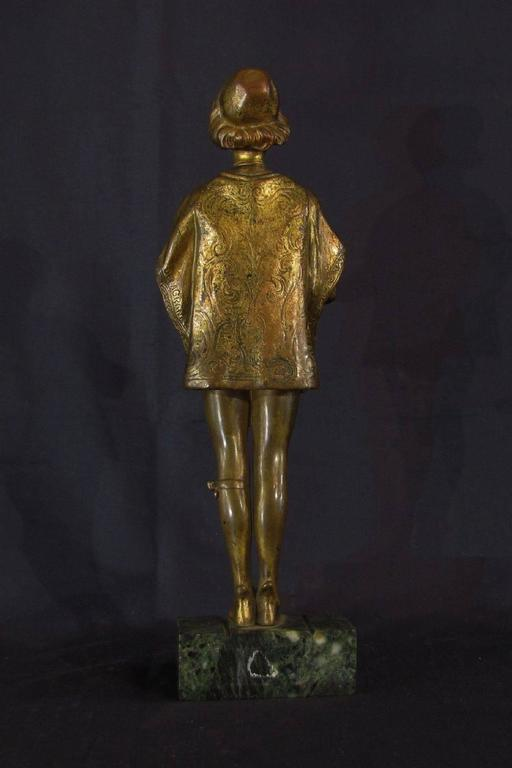 Cast French Early 20th Century Gilded Bronze Sculpture by Ferdinand M. L. Delagrange For Sale