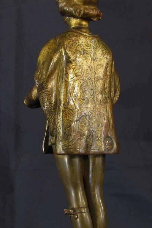 French Early 20th Century Gilded Bronze Sculpture by Ferdinand M. L. Delagrange For Sale 1