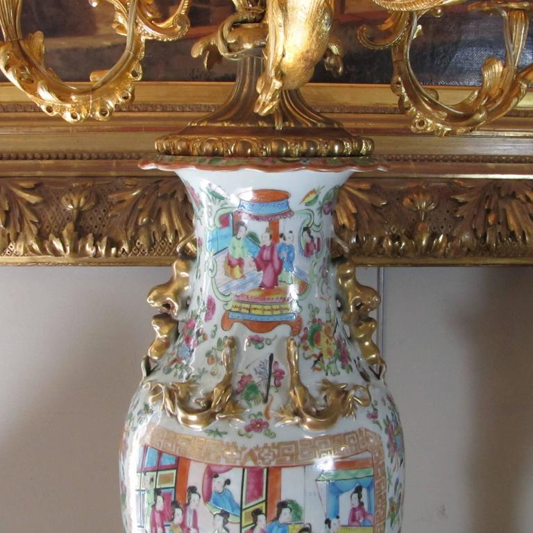 19th Century Chinese Vase Candelabra with French Napoleon III Ormolu Mounts In Good Condition For Sale In Firenze, IT