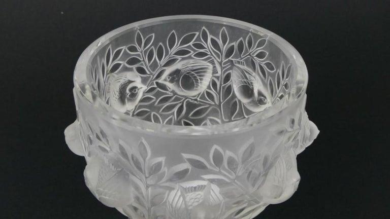 Lalique France Elizabeth Pedestal Bowl Vase For Sale At 1stdibs