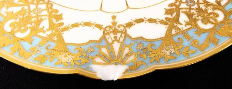 Late 19th Century Pair of Sevres Plates, Signed In Good Condition For Sale In Washington Crossing, PA