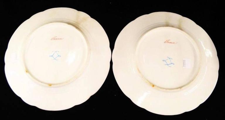 Late 19th Century Pair of Sevres Plates, Signed For Sale 2