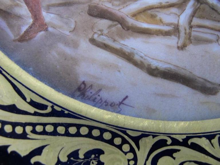 19th Century Antique French Sevres Pair of Porcelain Plates For Sale 1