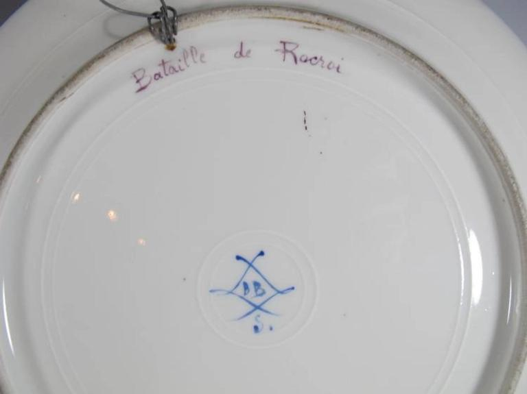 19th Century Antique French Sevres Pair of Porcelain Plates For Sale 4