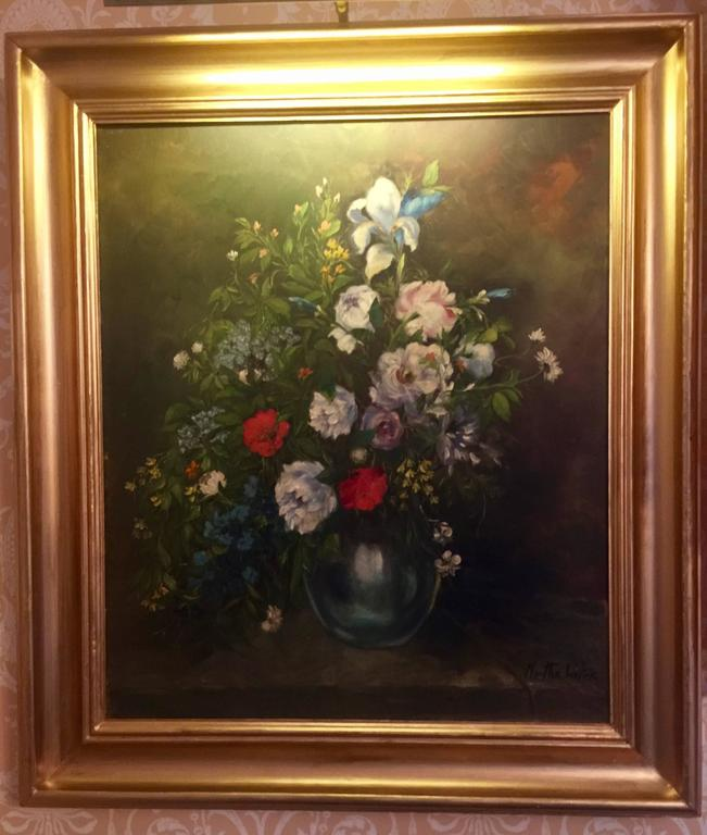 """Artist: Martha Walter (1875-1976); Title: Untitled; Medium: Oil painting on canvas. Year or Era produced: 19th century; Signature: Lower right. Sight area approximate measurement: 27"""" x 23""""; frame approximate measurement: 34.25"""" x"""