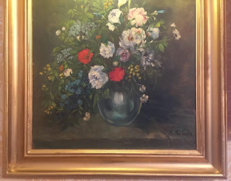 Canvas Martha Walter Floral Still Life For Sale