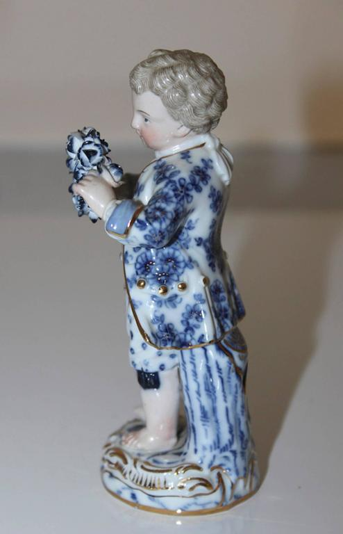 19th Century German Meissen Figurine In Good Condition For Sale In Washington Crossing, PA
