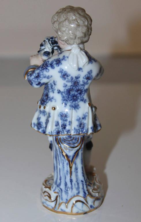 Porcelain 19th Century German Meissen Figurine For Sale