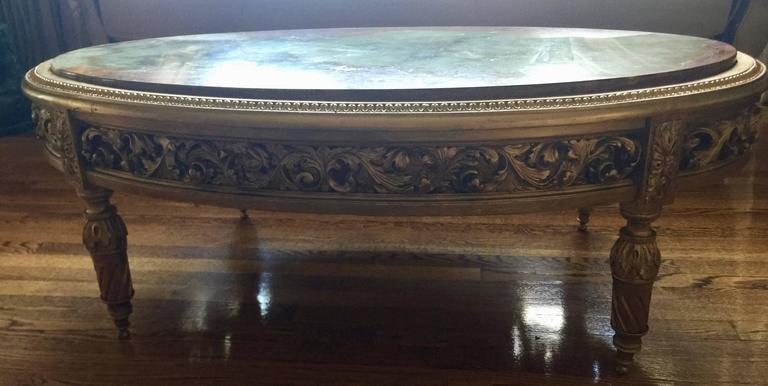20th century french giltwood and onyx coffee table for for French furniture designers 20th century
