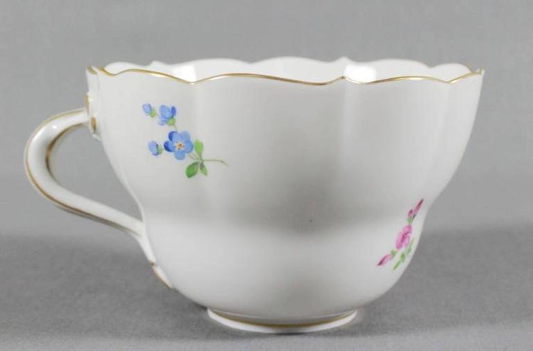 German 19th Century Meissen Cup and Saucer For Sale