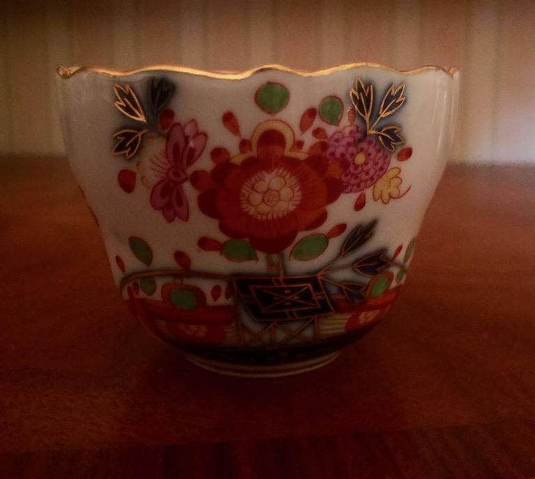Vintage Meissen Demitasse Cup and Saucer In Excellent Condition For Sale In Washington Crossing, PA