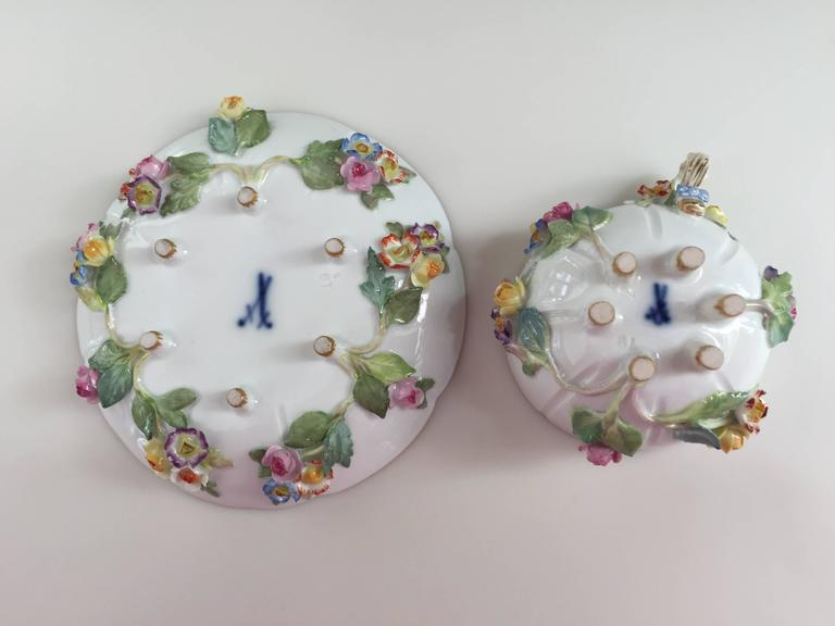 19th Century Meissen Cup and Saucer For Sale 1