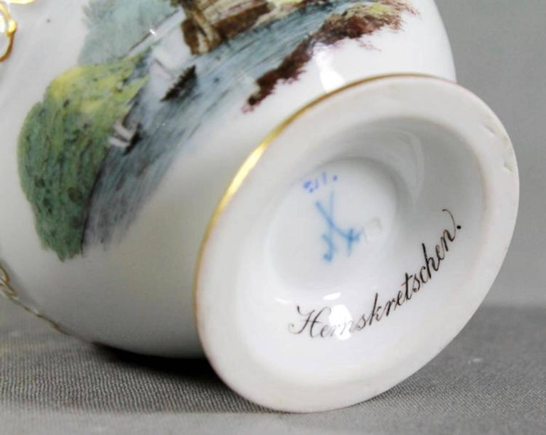 19th Century Meissen Cup and Saucer In Excellent Condition For Sale In Washington Crossing, PA
