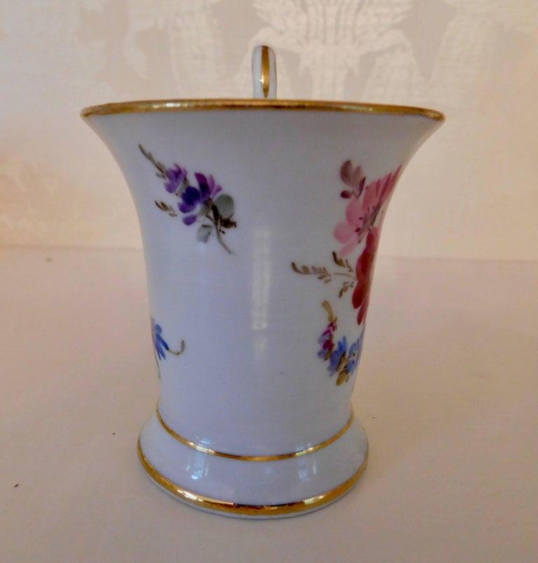 German 20th Century Meissen Porcelain Demitasse Cup & Saucer For Sale