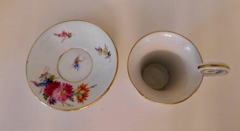 20th Century Meissen Porcelain Demitasse Cup & Saucer For Sale 2