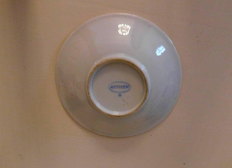 20th Century Meissen Porcelain Demitasse Cup & Saucer For Sale 3