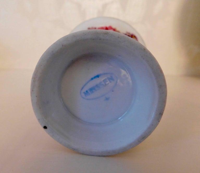 20th Century Meissen Porcelain Demitasse Cup & Saucer For Sale 4