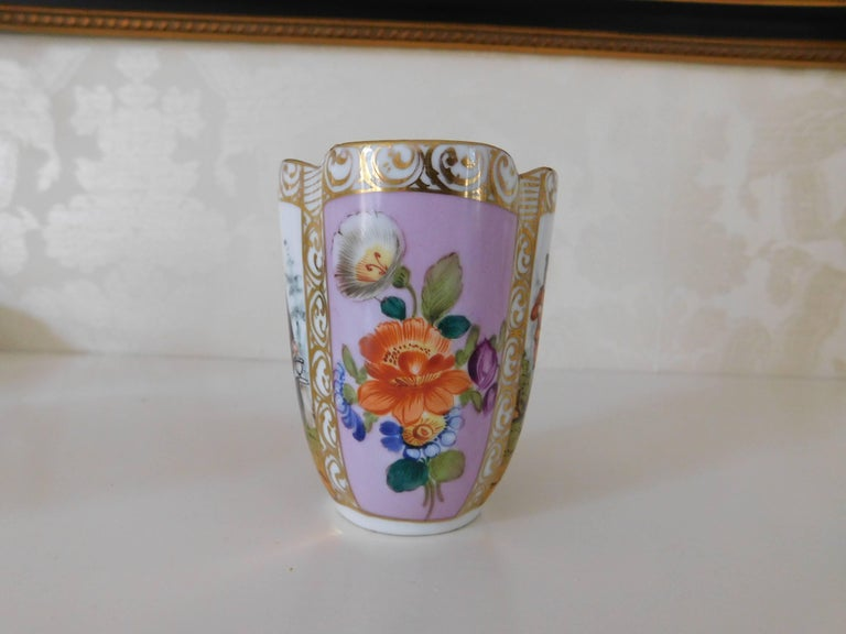 German 19th Century Helena Wolfsohn Porcelain Cup and Saucer For Sale