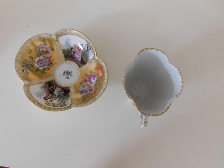 19th Century Helena Wolfsohn Porcelain Cup and Saucer For Sale 1