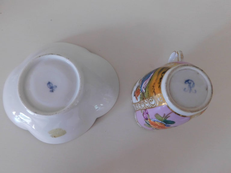 19th Century Helena Wolfsohn Porcelain Cup and Saucer For Sale 2